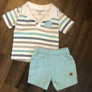 Calvin Klein short/shirt set size 12 months